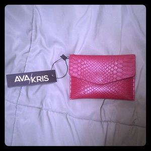 Red wallet purse